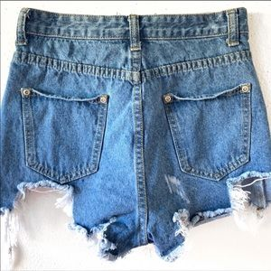 Pretty little thing ripped denim shorts